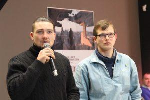 Ulysse, capitaine de Lun II et Guillaume, fondateur de TOWT lors de la conférence.