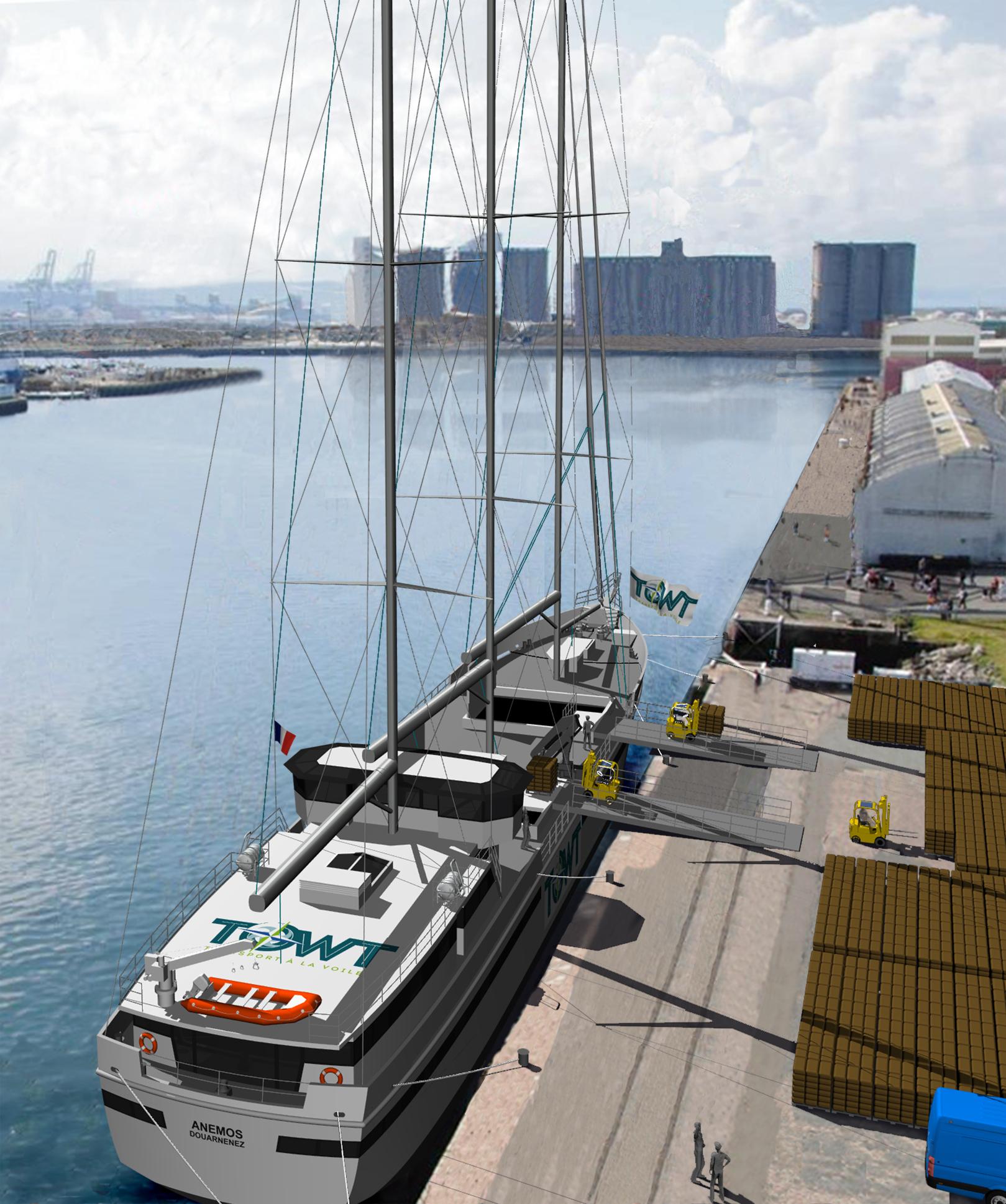 TOWT Voilier cargo - Quai cameroun_havre